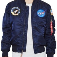 Alpha Industries MA-1 VF NASA Bomber Jacket Navy