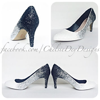 Midnight Ombre Glitter High Heels