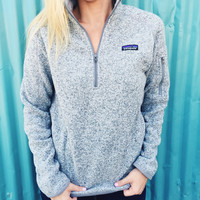 Patagonia Women's Better Sweater 1/4 Zip- Birch White