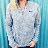 Patagonia Women's Better Sweater 1/4 Zip Fleece- Birch White