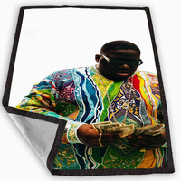 Biggie smalls Blanket for Kids Blanket, Fleece Blanket Cute and Awesome Blanket for your bedding, Blanket fleece *