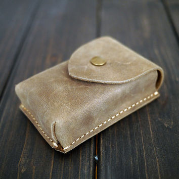 Business card holder/Leather Card Holder/Handmade Card Wallet/Vertical Slot card wallet/Leather Card Case/Personalized Card Case