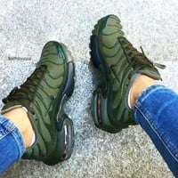 NIKE Air Max Vapormax  Plus Tn Ultra Army Green Men Wave Sneakers Women Men Sports Shoes B-CSXY Army green
