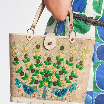 SALE Original Enid Collins, Money Tree, Beach Bag