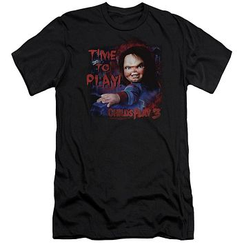Childs Play Slim Fit T-Shirt Chucky Time To Play Black Tee