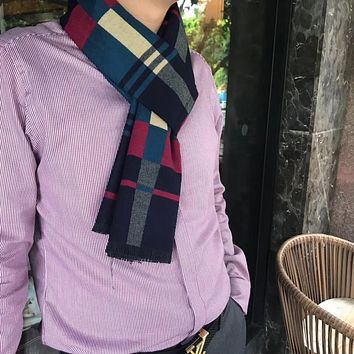 Burberry Men Fashion Casual Wool Knit Scarf