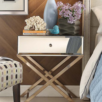 HomeBelle Chrome Blanche Mirrored Accent Table | zulily