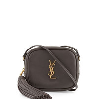 Saint Laurent Monogram Blogger Crossbody Bag, Dark Gray