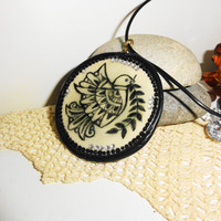 Pendant, Dove, Polymer clay art, Customize my own, Handmade pendant, Medallion, Amulet, Decorative jewelry, Unique gift, Dove of peace, Bird