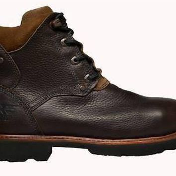 "Timberland Mens Pro 6"" Steel Toe Boots Dark Brown 89613"