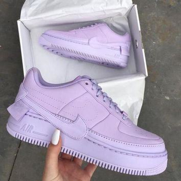 Nike Air Force 1 Fashion New Sports Leisure High Quality Women Men Shoes Purple