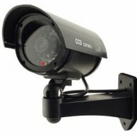 Outdoor Waterproof Fake / Dummy Security Camera with Blinking Light (Black)