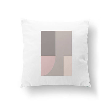 Simple Design, Minimal Pillow, Abstract Pillow, Cushion Cover, Throw Pillow, Home Decor, Pink Gray, Geometric Pattern, Decorative Pillow