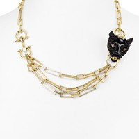 Alexis BittarCrystal Encrusted Panther Chain Necklace, 20""