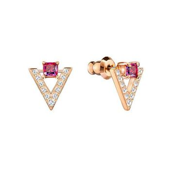 Swarovski Small Rose Gold-Plated Funk Earrings