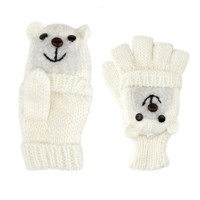Charlotte Russe - Fold-Over Animal Mittens