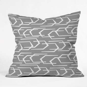 Heather Dutton Going Places Slate Throw Pillow