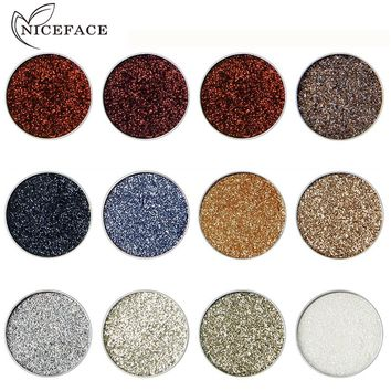 2018 New Shimmer Eye Shadow Color Cosmetics Waterproof Pigment Black Blue Silver Refill Single Glitter Eyeshadow Plattes