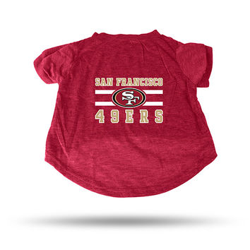 49ERS RED PET T-SHIRT - SMALL