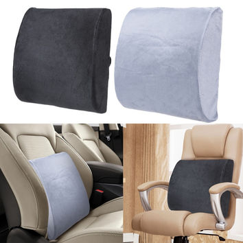 LS4G Memory Foam Lumbar Cushion Back Support Travel Pillow Car Seat Home Office Decorative Pillows Free Shipping