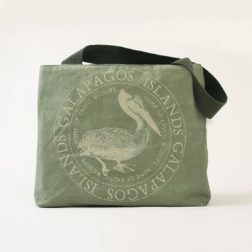 Beautiful Galapagos Islands Pelican Tote