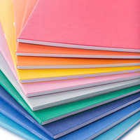 BULK Medium Notebook - 5.5W x 8.5L, blank front, multicolor options, notebook supply, unbranded, diary, staple bound