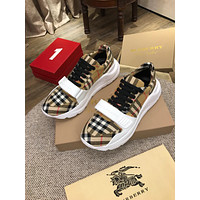 Best Quality BURBERRY Mens Luxury Fashion Mens Loafers Autumn Winter 2020 new Reeth House Check low Top Sneaker Black Check A Mf Moore Aciua