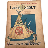 Gee |  How It Has Growed |  Lone Scout Magazine |  The Real Boys Magazine December 27 1919 |  Perry Emerson Thompson