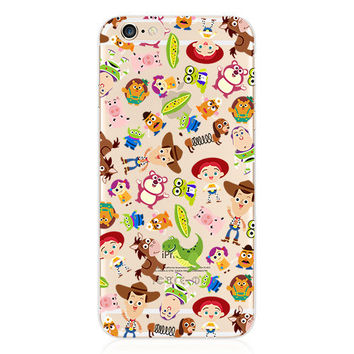 For iPhone 6S Case Toy Story Sheriff Woody Buzz Lightyear Slinky Dog Transparent TPU Soft Case for iPhone 6 6S 4.7 Inch