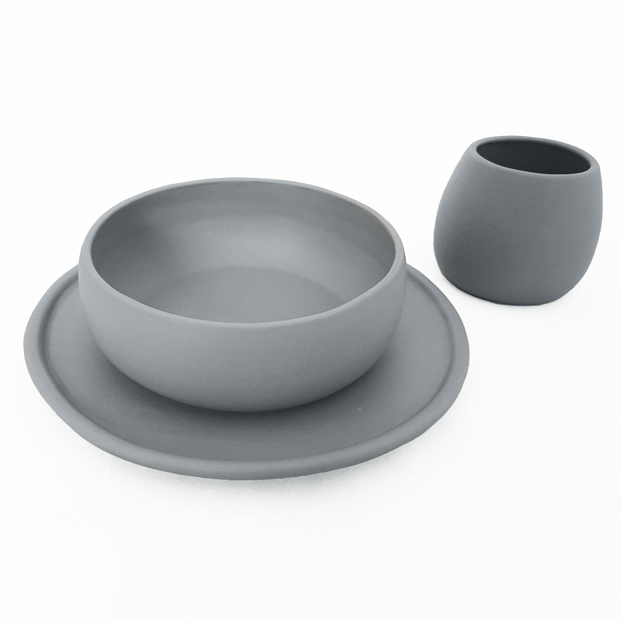 matte grey porcelain usa made dinnerware from hammers heels