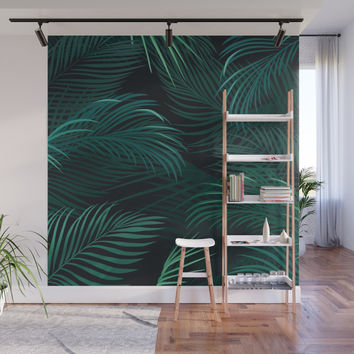 Palm leaves Wall Mural by printapix