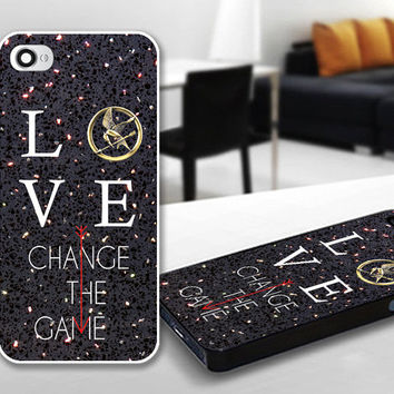 Love Hunger Games Quote Sparkle Print Case for iPhone 4/4s, 5, 5c, 5s, Samsung S3, S4