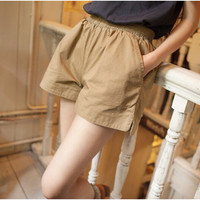 The new Japanese solid color cotton shorts