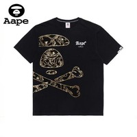 Aape Tide brand early spring new men and women models wild loose casual short-sleeved T-shirt