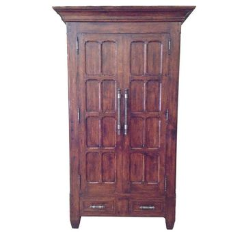 Pre-owned Bausman & Co Distressed Walnut Armoire