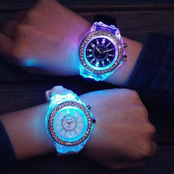unisex light up watch simple style watches gift 502  number 1