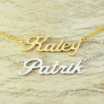 Custom Alloy necklace name  necklace special gift for your love unique gift personalized necklace