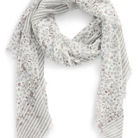 Sole Society Floral Stripe Scarf | Nordstrom