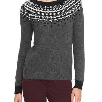 Gap Women Factory Fair Isle Crewneck Sweater