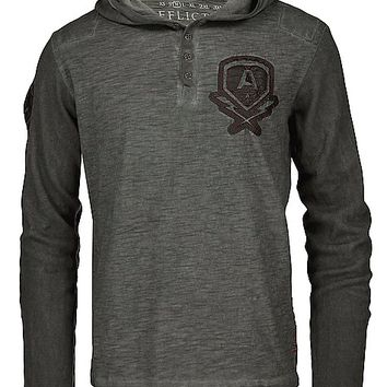 Affliction Bolt Hooded Henley