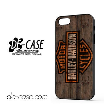 Harley Davidson Motor Cycles Wood Logo For Iphone 5 Iphone 5S Case Phone Case Gift Present