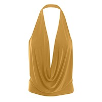 Lightweight Sexy Low Cut Halter Top with Stretch
