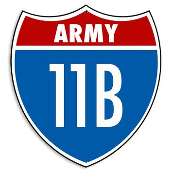Army 11B Sign
