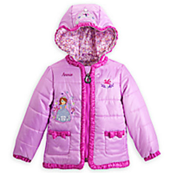Sofia the First Winter Jacket for Girls - Personalizable