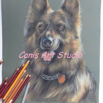 CUSTOM DOG PORTRAIT, Dog memorial, Original pastel pet portrait from photos, Drawing on request, Personalized gift for dog lovers, Dog Art