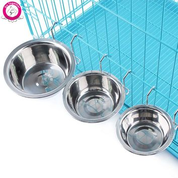 Hanging Stainless Steel Food/Water Bowl S/M/L