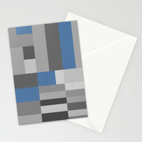White Rock Blue Stationery Cards by Project M