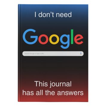 My Journal Has All The Answers Hardcover Journal