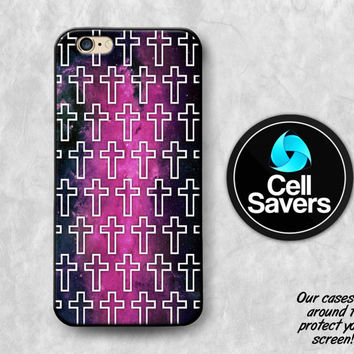 Cross Pattern iPhone 6s Case iPhone 6 Case iPhone 6 Plus Case iPhone 6s Plus iPhone 5c Case iPhone 5 Case Purple Galaxy Space Stars Tumblr