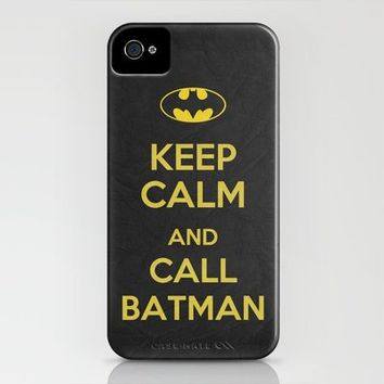 Keep Calm - Batman Poster 01 iPhone Case by Misery | Society6